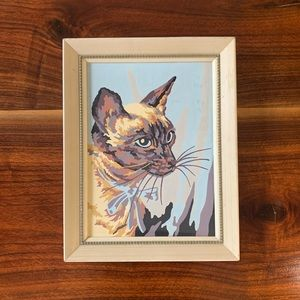 Vintage Cat Paint-by-Numbers with Frame!